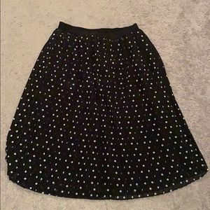 Black and white polka dot skirt Size M